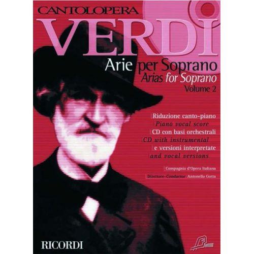 RICORDI VERDI G. - CANTOLOPERA: ARIE PER SOPRANO + CD