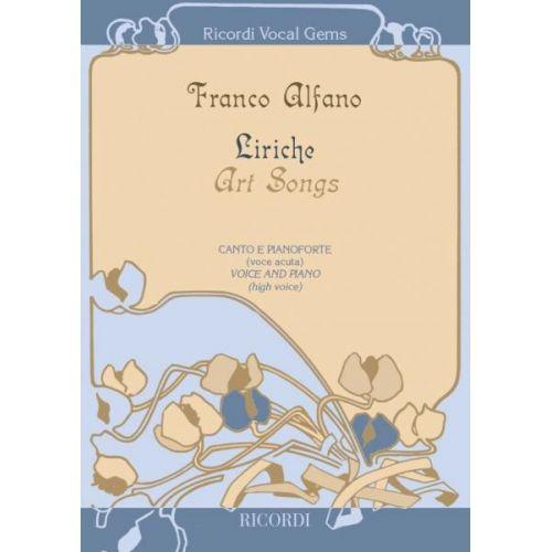 RICORDI ALFANO F. - LIRICHE - ART SONGS - CHANT ET PIANO