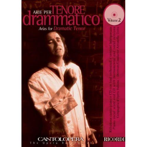 RICORDI CANTOLOPERA: ARIE PER TENORE DRAMMATICO + CD