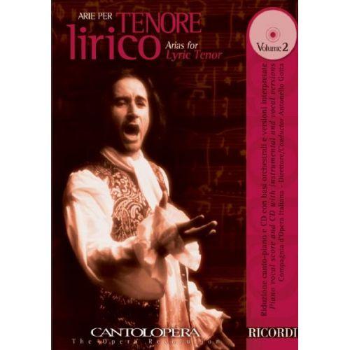 RICORDI CANTOLOPERA: ARIE PER TENORE LIRICO + CD