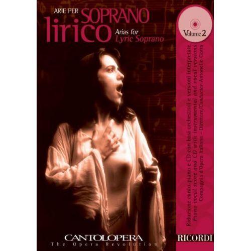 RICORDI CANTOLOPERA: ARIE PER SOPRANO LIRICO + CD