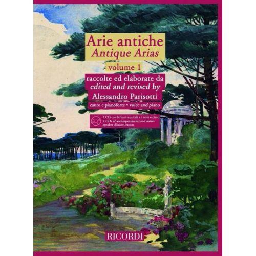 RICORDI ARIE ANTICHE - ANTIQUE ARIAS VOL.1 + CD - CHANT, PIANO