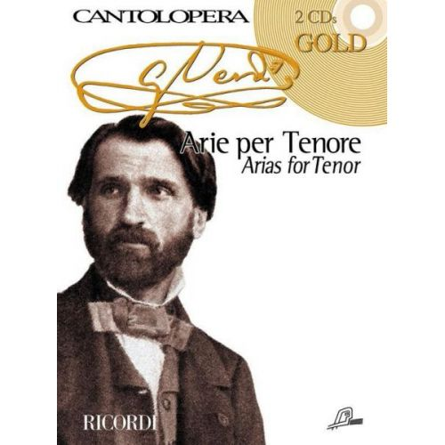RICORDI VERDI G. - CANTOLOPERA - ARIAS FOR TENOR + 2 CD - CHANT, PIANO