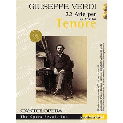 RICORDI CANTOLOPERA - VERDI G. - 22 ARIAS FOR TENOR + CD