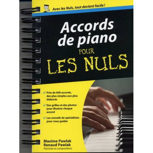 FIRST INTERACTIVE POUR LES NULS - ACCORDS PIANO FORMAT POCHE - PIANO