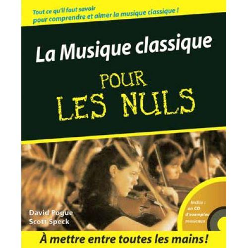 FIRST INTERACTIVE LA MUSIQUE CLASSIQUE POUR LES NULS + CD