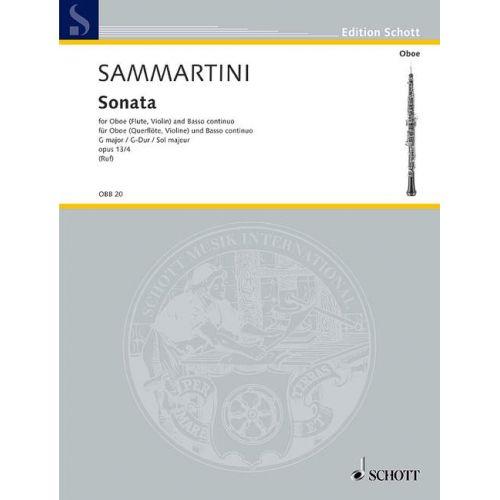 SCHOTT SAMMARTINI G.B. - SONATA IN G MAJOR OP. 13/4 - OBOE AND BASSO CONTINUO