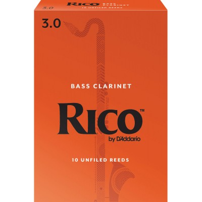 D'ADDARIO - RICO ORANGE BASS CLARINET REEDS 3