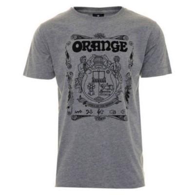 ORANGE T-SHIRT CREST S GRAY