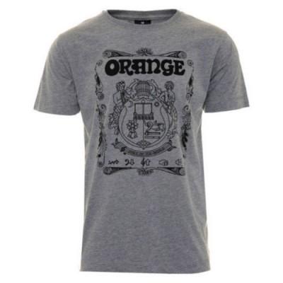 ORANGE T-SHIRT ORANGE CREST GREY