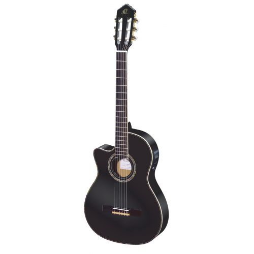 ORTEGA LEFT HANDED RCE145 SPRUCE SLIM NECK BLACK