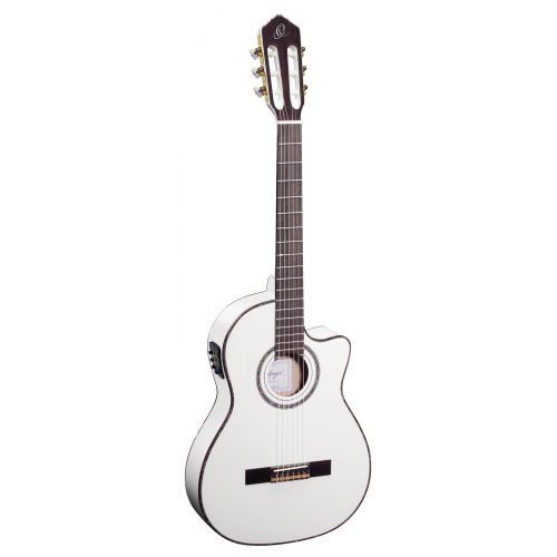 ORTEGA RCE145 SPRUCE SLIM NECK WHITE