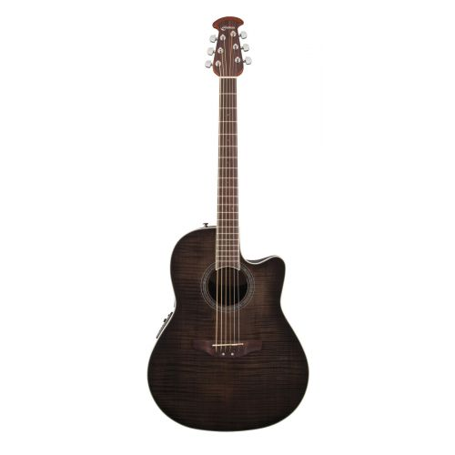 OVATION CELEBRITY STANDARD PLUS CS24PTBBY TRANS BLACK FLAMED MAPLE