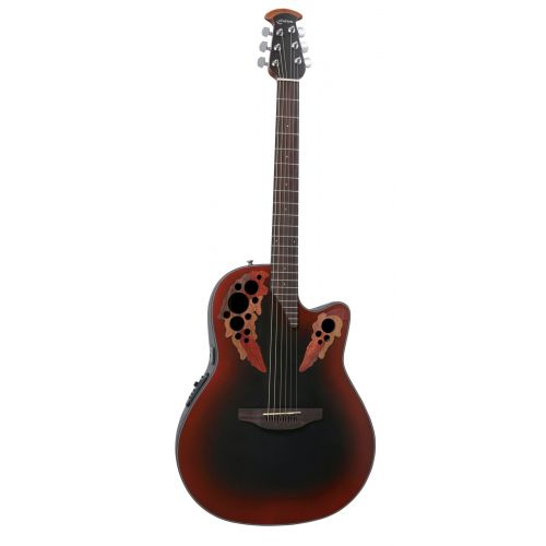 OVATION CELEBRITY ELITE MID CUTAWAY REVERSE RED BURST