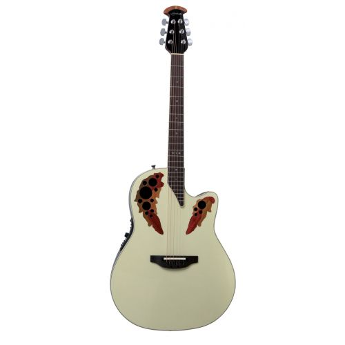 OVATION STANDARD ELITE DEEP CONTOUR CUTAWAY PEARL WHITE