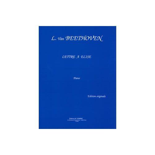 COMBRE BEETHOVEN LUDWIG VAN - LETTRE A ELISE - PIANO