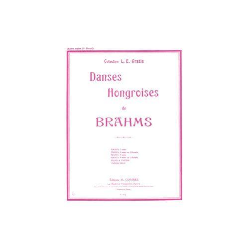 COMBRE BRAHMS JOHANNES - DANSES HONGROISES VOL.1 (N.1 A 5) - PIANO A 4 MAINS