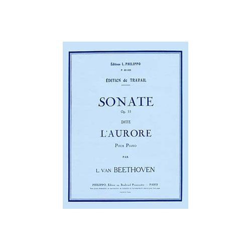 COMBRE BEETHOVEN LUDWIG VAN - SONATE N.21 OP.53 L'AURORE - PIANO