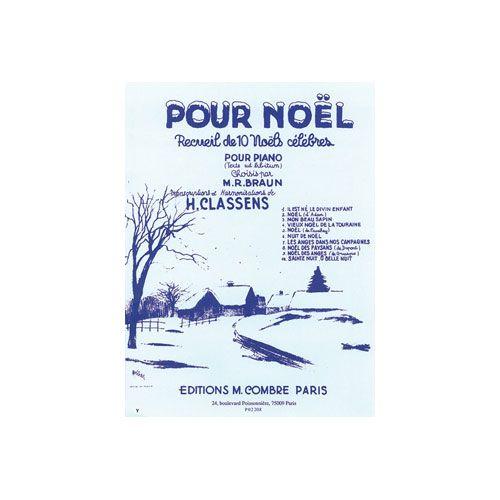 COMBRE POUR NOEL (10 NOELS CELEBRES) - PIANO