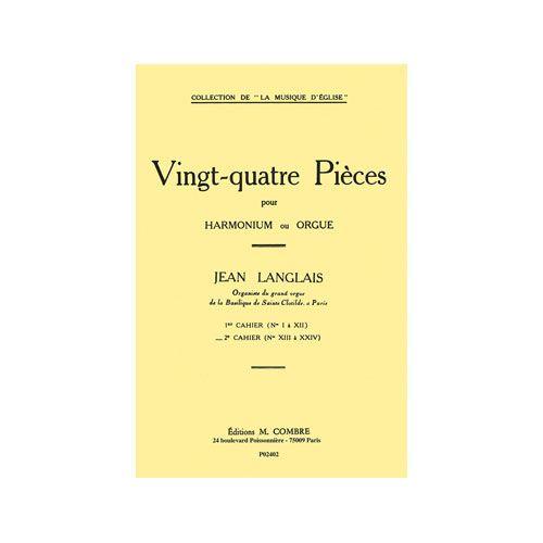 COMBRE LANGLAIS JEAN - PIECES (24) CAHIER N.2 (13 A 24) - ORGUE OU HARMONIUM