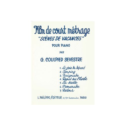 COMBRE COULPIED-SEVESTRE GERMAINE - FILM DE COURT-METRAGE - PIANO
