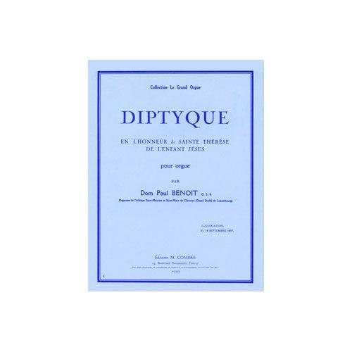 COMBRE BENOIT D. P. - DIPTYQUE EN L'HONNEUR DE SAINTE THERESE - ORGUE