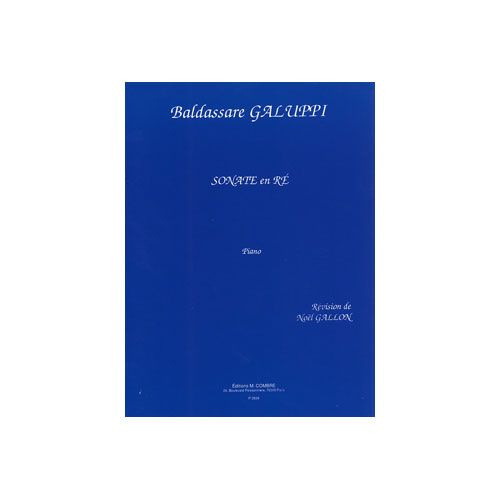 COMBRE GALUPPI BALDASSARE - SONATE EN RE - PIANO