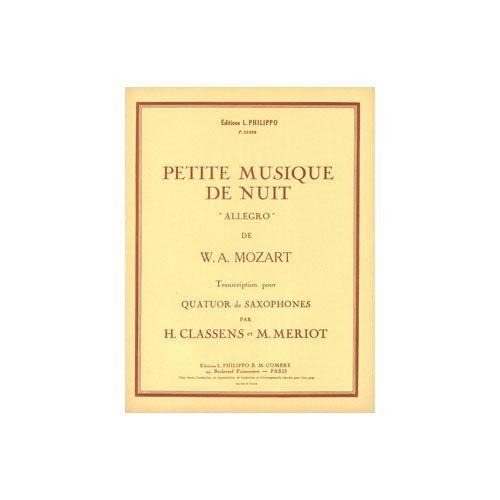 COMBRE MOZART WOLFGANG AMADEUS - PETITE MUSIQUE DE NUIT : ALLEGRO - 4 SAXOPHONES