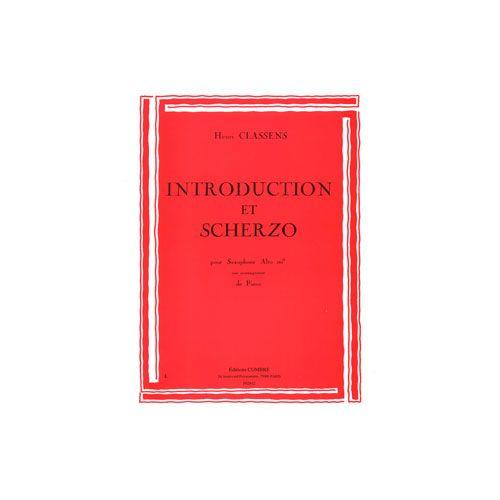 COMBRE CLASSENS HENRI - INTRODUCTION ET SCHERZO - SAXOPHONE ET PIANO