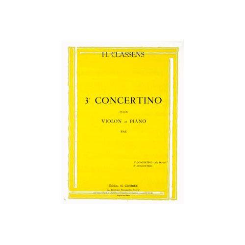 COMBRE CLASSENS HENRI - CONCERTINO N.3 - VIOLON ET PIANO