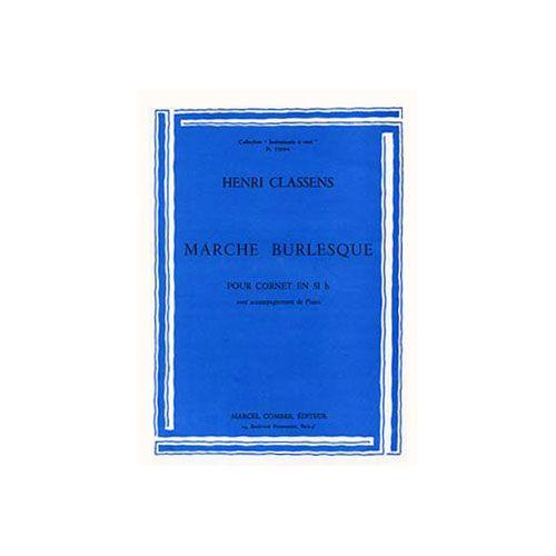 COMBRE CLASSENS HENRI - MARCHE BURLESQUE - TROMPETTE ET PIANO