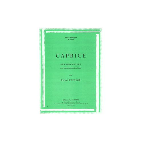 COMBRE CLERISSE ROBERT - CAPRICE - SAXOPHONE ET PIANO