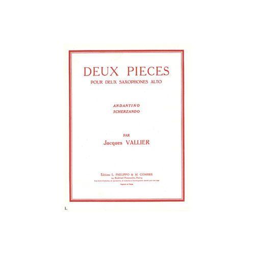 COMBRE VALLIER JACQUES - PIECES (2) : ANDANTINO - SCHERZANDO - 2 SAXOPHONES ALTOS