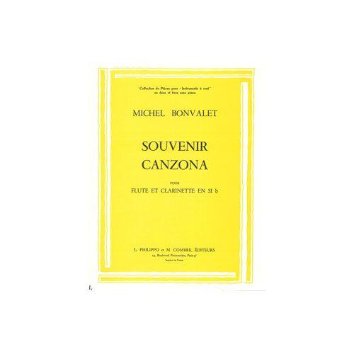COMBRE BONVALET MICHEL - SOUVENIR - CANZONA - FLUTE ET CLARINETTE SIB