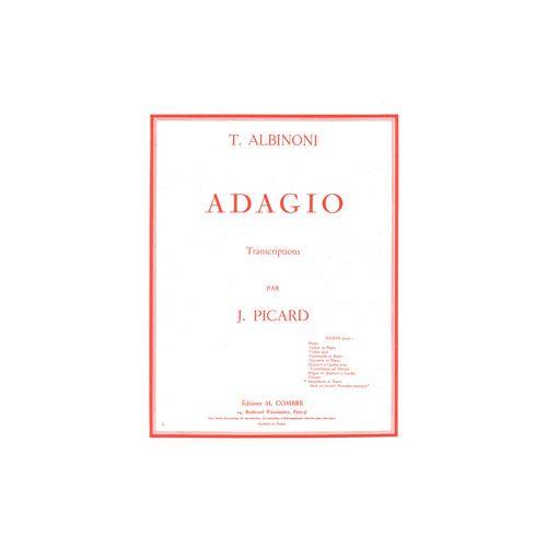 COMBRE ALBINONI TOMASO - ADAGIO - SAXOPHONE ET PIANO
