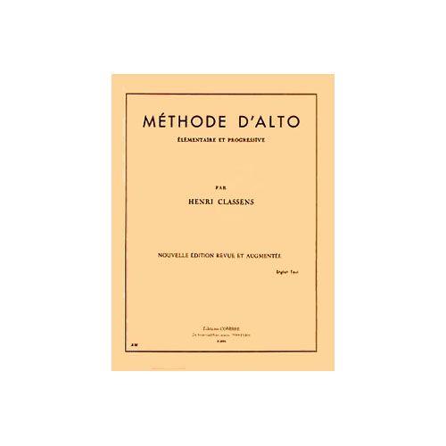 COMBRE CLASSENS H. - METHODE D'ALTO