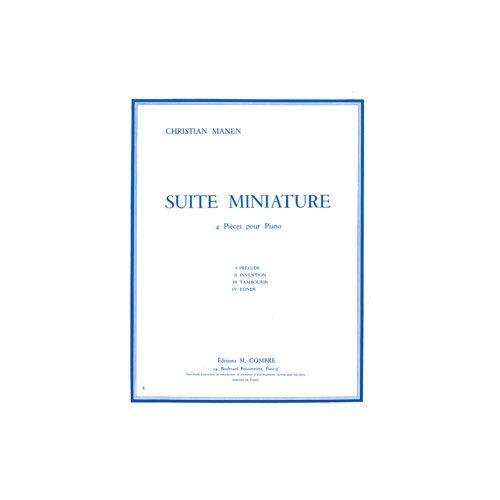 COMBRE MANEN CHRISTIAN - SUITE MINIATURE (4 PIECES) - PIANO