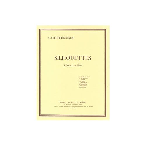 COMBRE COULPIED-SEVESTRE GERMAINE - SILHOUETTES (8 PIECES) - PIANO