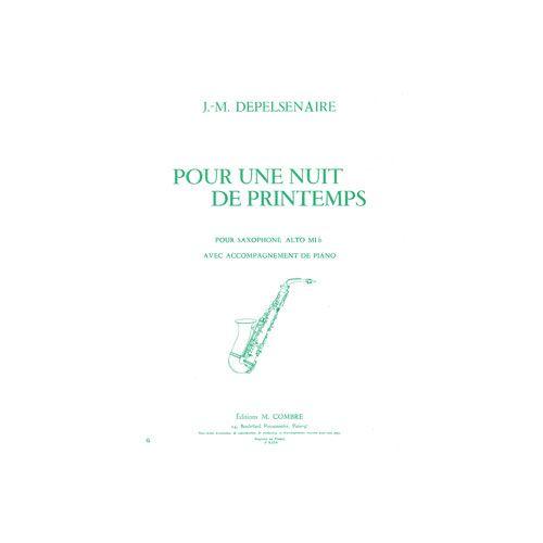 COMBRE DEPELSENAIRE JEAN-MARIE - POUR UNE NUIT DE PRINTEMPS - SAXOPHONE ET PIANO