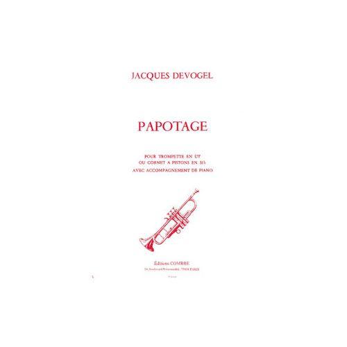 COMBRE DEVOGEL JACQUES - PAPOTAGE - TROMPETTE ET PIANO