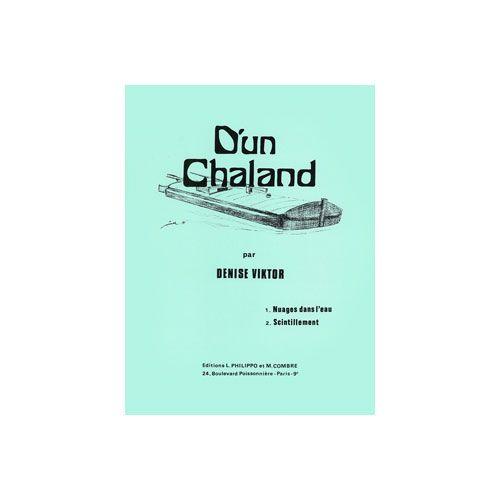 COMBRE VIKTOR DENISE - D'UN CHALAND (NUAGES DANS L'EAU - SCINTILLEMENT) - PIANO