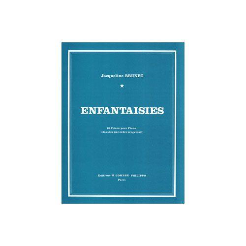 COMBRE BRUNET JACQUELINE - ENFANTAISIES (10 PIECES) - PIANO