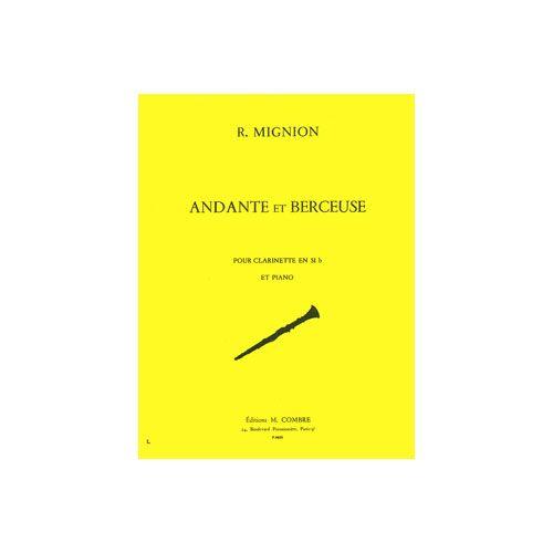 COMBRE MIGNION RENE - ANDANTE ET BERCEUSE - CLARINETTE ET PIANO