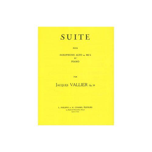 COMBRE VALLIER JACQUES - SUITE OP.59 - SAXOPHONE ET PIANO