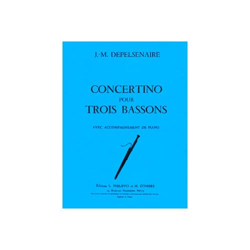 COMBRE DEPELSENAIRE JEAN-MARIE - CONCERTINO LA SOUPE AUX CHOUX - 3 BASSONS ET PIANO