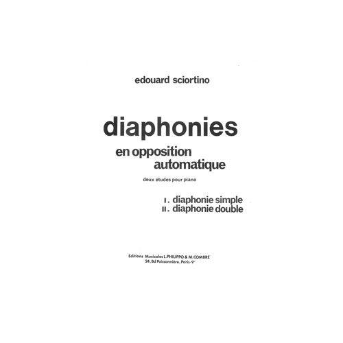COMBRE SCIORTINO EDOUARD - DIAPHONIES (2 ETUDES) OP.11 - PIANO