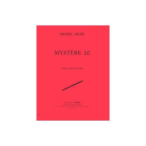 COMBRE FICHE MICHEL - MYSTERE 20 - FLUTE ET PIANO