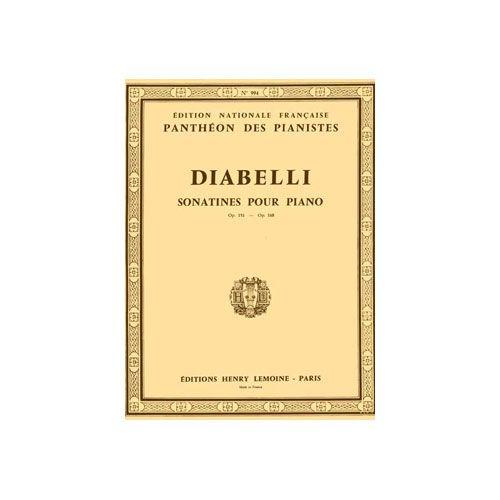 LEMOINE DIABELLI ANTON - SONATINES OP.151 ET 168 - PIANO