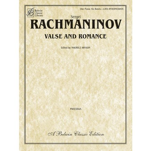 ALFRED PUBLISHING RACHMANINOV SERGEI - VALSE AND ROMANCE - 1 PIANO, SIX HANDS