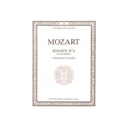LEMOINE MOZART WOLFGANG AMADEUS - SONATE N.4 EN MI MIN. - VIOLON ET PIANO
